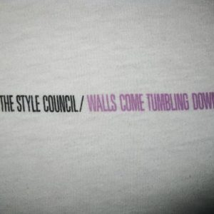 1985 STYLE COUNCIL WALLS COME TUMBLING DOWN VINTAGE T-SHIRT