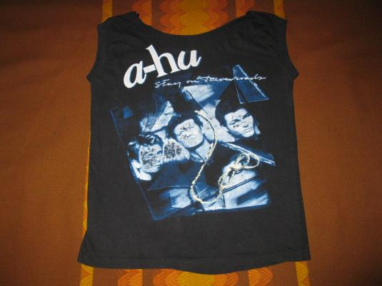 1988 A-HA STAY ON THESE ROADS VINTAGE T-SHIRT