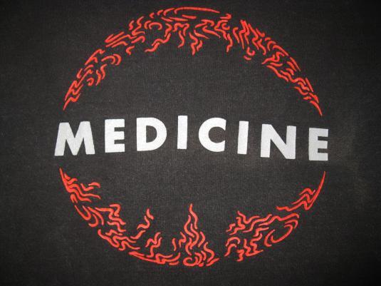 1992 MEDICINE SHOT FORTH SELF LIVING VINTAGE TSHIRT SHOEGAZE