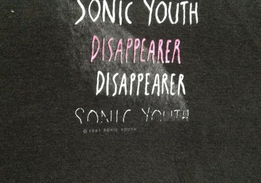 1991 SONIC YOUTH DISAPPEARER VINTAGE T-SHIRT TRACI LORDS