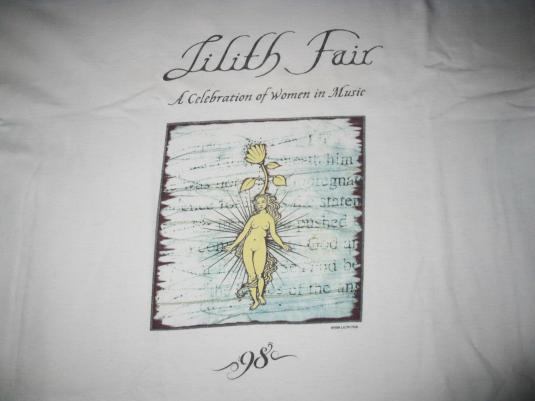 1998 LILITH FAIR VINTAGE T-SHIRT SINEAD O CONNOR LIZ PHAIR