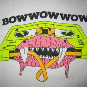 1983 BOW WOW WOW WHEN THE GOING GETS TOUGH VINTAGE T-SHIRT