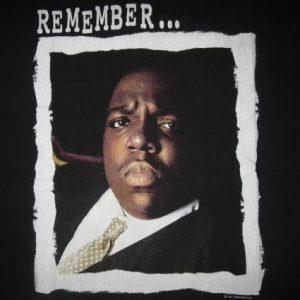 1997 NOTORIOUS B.I.G. MEMORIAL VINTAGE T-SHIRT HIP HOP