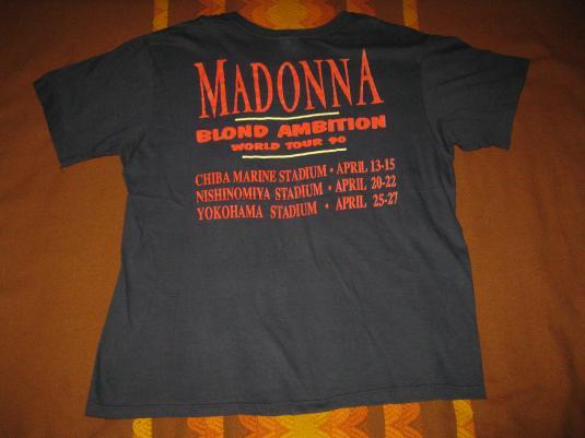 1990 MADONNA BLOND AMBITION JAPAN TOUR VINTAGE T-SHIRT