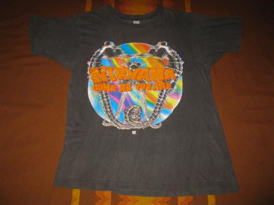 1992 NIRVANA COME AS YOU ARE VINTAGE T-SHIRTWITH BACKPRINT