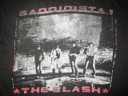 80s THE CLASH LONDON CALLING SANDINISTA VINTAGE T-SHIRT