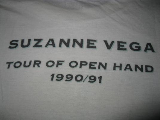 1990 SUZANNE VEGA TOUR OF OPEN HAND VINTAGE T-SHIRT