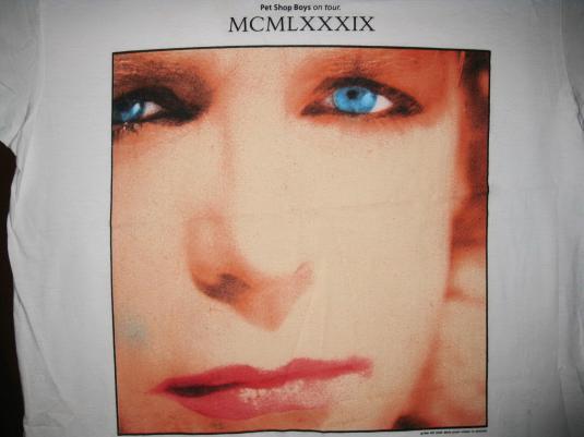 1989 PET SHOP BOYS MCMLXXXIX TOUR VINTAGE T-SHIRT