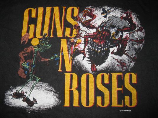 1988 GUNS N' ROSES JAPAN TOUR VINTAGE T-SHIRT GN'R