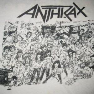 80s ANTHRAX NO FRILLS VINTAGE T-SHIRT