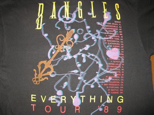 1989 BANGLES EVERYTHING TOUR VINTAGE T-SHIRT SUSANNA HOFFS