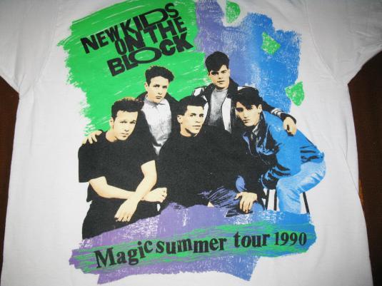 1990 NEW KIDS ON THE BLOCK VINTAGE T-SHIRT NKOTB