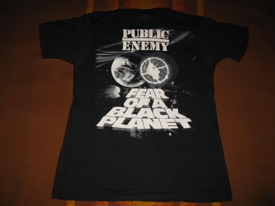1990 PUBLIC ENEMY FEAR OF A BLACK PLANET VINTAGE T-SHIRT