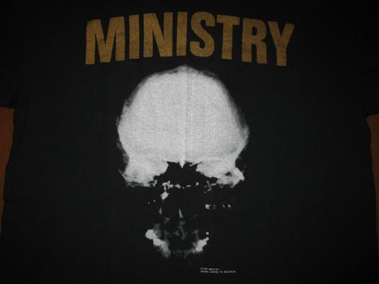 1991 MINISTRY MIND IS A TERRIBLE THING VINTAGE T-SHIRT
