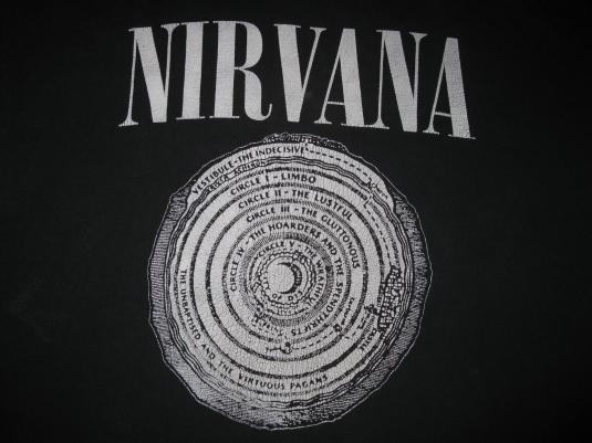 90s NIRVANA INVERTED VESTIBULE LONG SLEEVE VINTAGE T-SHIRT