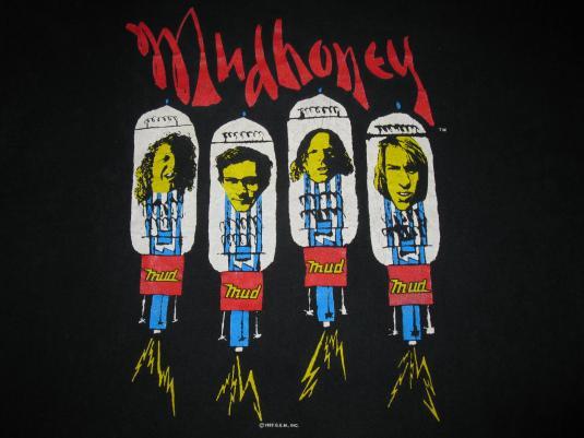 1992 MUDHONEY PIECE OF CAKE VINTAGE T-SHIRT GRUNGE SEATTLE