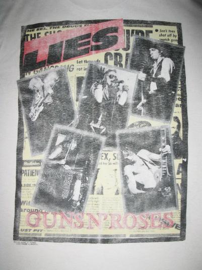 1989 GUNS N' ROSES LIES ONE IN A MILLION VINTAGE T-SHIRT
