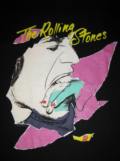 1989 ROLLING STONES STEEL WHEELS TOUR VINTAGE T-SHIRT