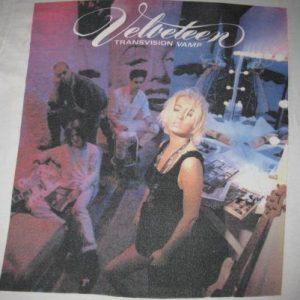 1989 TRANSVISION VAMP VELVETEEN TOUR VINTAGE T-SHIRT 80s