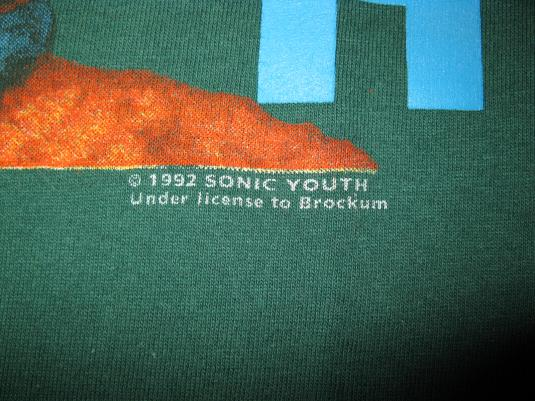 1992 SONIC YOUTH DIRTY VINTAGE T-SHIRT