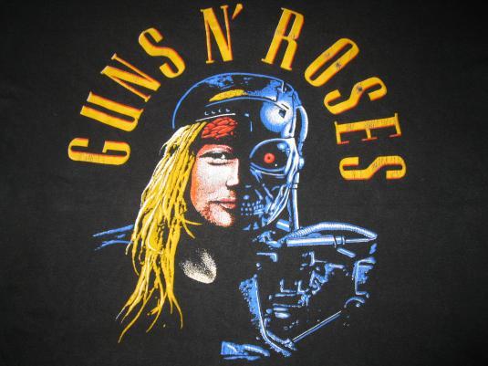 1991 GUNS N ROSES YOU COULD BE MINE VINTAGE T-SHIRT GNR