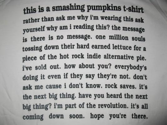 1993 SMASHING PUMPKINS HEART VINTAGE T-SHIRT