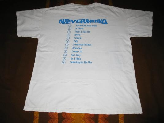 1992 NIRVANA NEVERMIND VINTAGE T-SHIRT KURT COBAIN SEATTLE