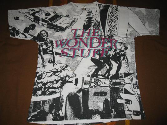 1991 THE WONDER STUFF NEVER LOVED ELVIS VINTAGE FP T-SHIRT
