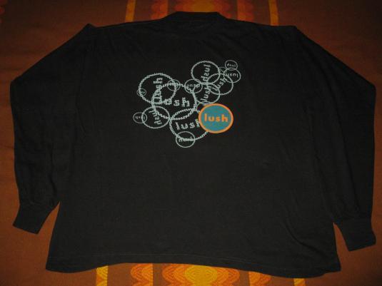 1992 LUSH SPOOKY VINTAGE T-SHIRT LONG SLEEVE SHOEGAZE 4AD