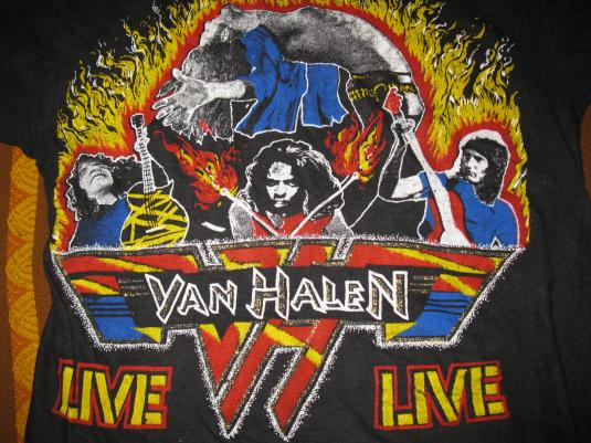 80s VAN HALEN RUNNIN WITH THE DEVIL VINTAGE T-SHIRT
