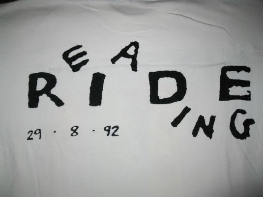 1992 RIDE READING FESTIVAL VINTAGE T-SHIRT SHOEGAZE
