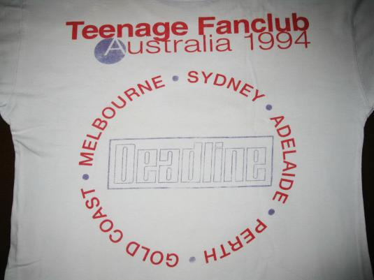 1994 TEENAGE FANCLUB THIRTEEN TOUR VINTAGE T-SHIRT