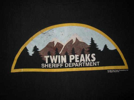 1990 TWIN PEAKS SHERIFF DEPARTMENT VINTAGE T-SHIRT