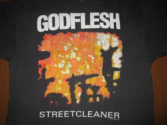 1990 GODFLESH STREETCLEANER VINTAGE T-SHIRT HEAD OF DAVID