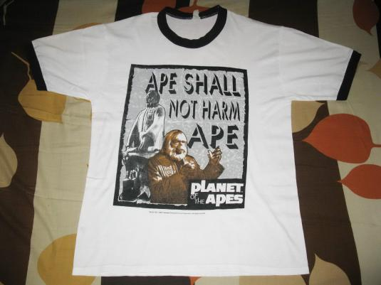 1996 PLANET OF THE APES RINGER VINTAGE T-SHIRT MOSQUITOHEAD