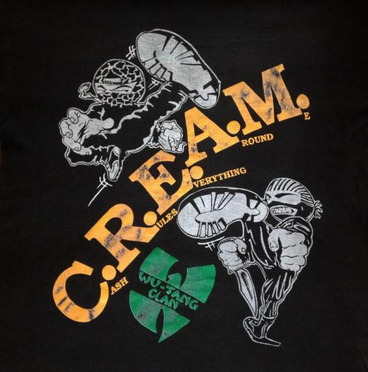 1994 WU-TANG CLAN C.R.E.A.M. VINTAGE T-SHIRT HIP HOP