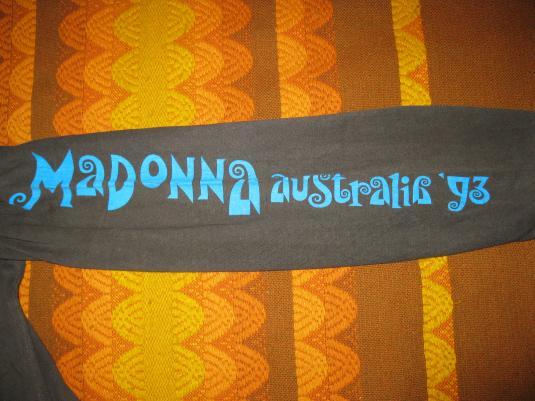 1993 MADONNA GIRLIE SHOW AUSTRALIAN TOUR VINTAGE T-SHIRT