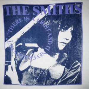 1992 THE SMITHS THERE'S A LIGHT VINTAGE T-SHIRT MORRISSEY