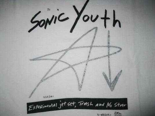 1994 SONIC YOUTH EXPERIMENTAL JET SET VINTAGE T-SHIRT