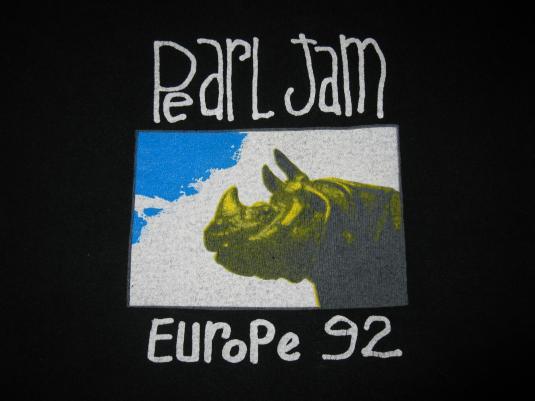 1992 PEARL JAM WORLD JAM EUROPE VINTAGE T-SHIRT SEATTLE