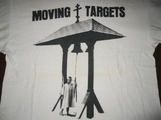 80s MOVING TARGETS BURNING IN WATER VINTAGE T-SHIRT