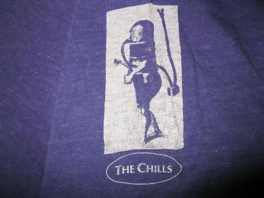 1990 THE CHILLS SUBMARINE BELLS VINTAGE HOODED T-SHIRT