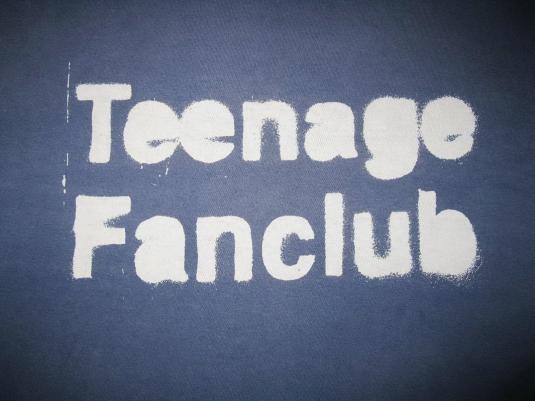 1993 TEENAGE FANCLUB STENCIL VINTAGE TSHIRT CREATION RECORDS