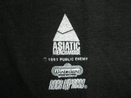 1991 PUBLIC ENEMY APOCALYPSE 91 VINTAGE T-SHIRT HIP HOP