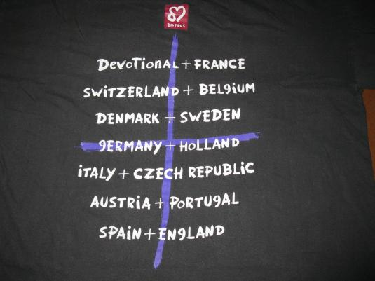 1993 DEPECHE MODE DEVOTIONAL EURO TOUR V.2 VINTAGE T-SHIRT