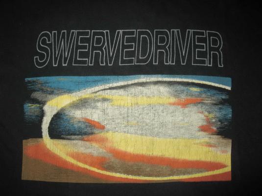 1991 SWERVEDRIVER RAISE TOUR VINTAGE T-SHIRT SHOEGAZE