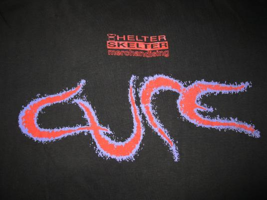 1992 THE CURE WISH HELTER SKELTER VINTAGE T-SHIRT GOTH 90S
