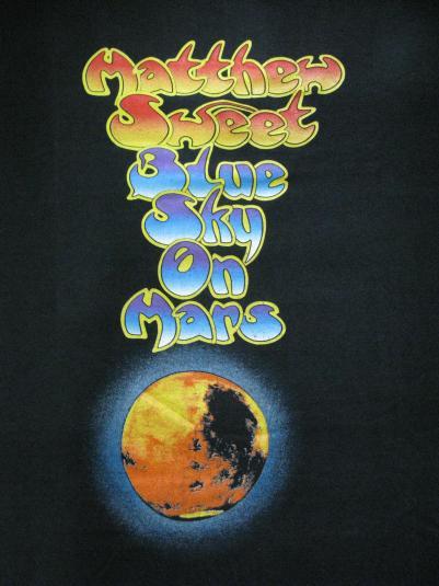 1997 MATTHEW SWEET BLUE SKY ON MARS VINTAGE T-SHIRT