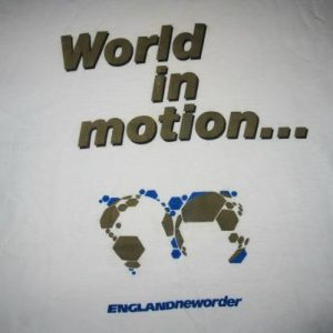 1990 NEW ORDER WORLD IN MOTION VINTAGE SHIRT FIFA WORLD CUP