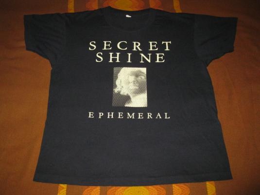 1992 SECRET SHINE EPHEMERAL VINTAGE T-SHIRT SHOEGAZE SARAH
